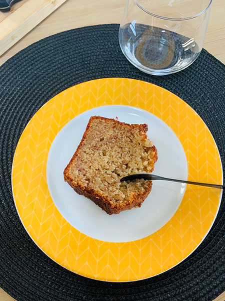 Part de cake à la banane